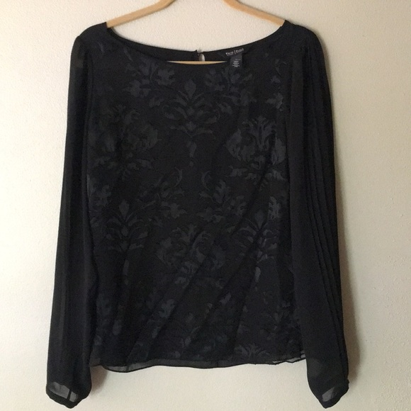White House Black Market Tops - Black blouse